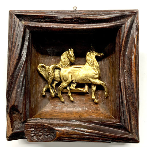 Wooden Frame with Horses (3.75