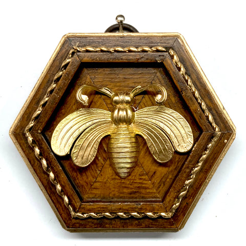 Wooden Frame with Deco Bee (3.25