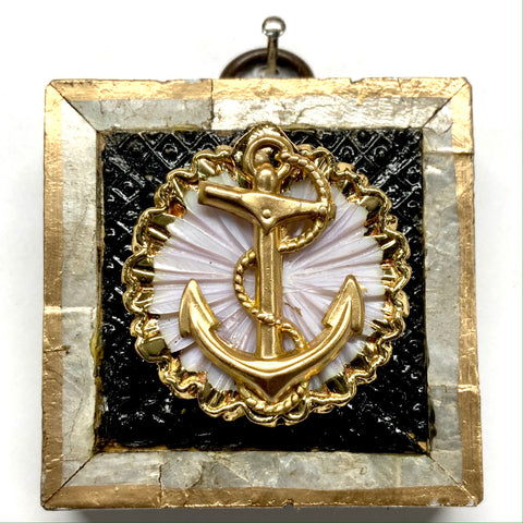 Mother of Pearl Frame with Anchor on Brooch (2