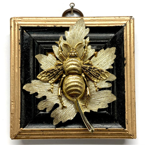 Painted Frame with Grande Bee on Leaf (3