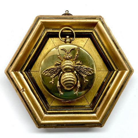 Gilt Frame with Grande Bee on Compass (4.25