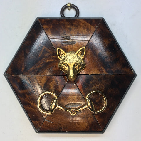 Burled Frame with Fox (3.75