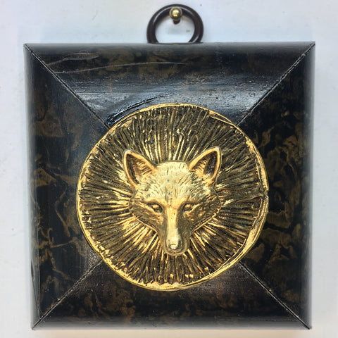 Marbled Frame with Fox on Button (2.75