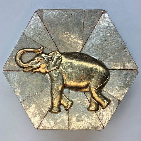 Mother of Pearl Frame with Elephant (4.25
