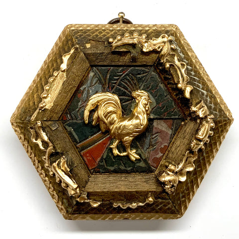 Gilt Frame with Rooster on Coromandel (4
