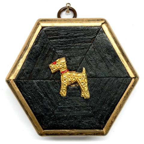 Bourbon Barrel Frame with Dog Brooch (3.5