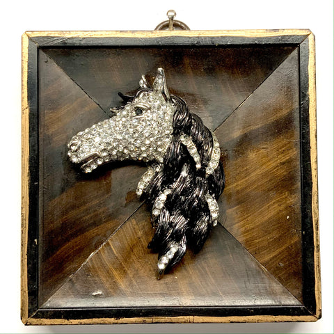 Burled Frame with Sparkle Horse (3.75