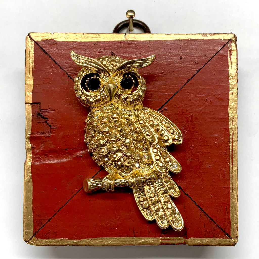 Lacquered Frame with Owl Brooch (2.75