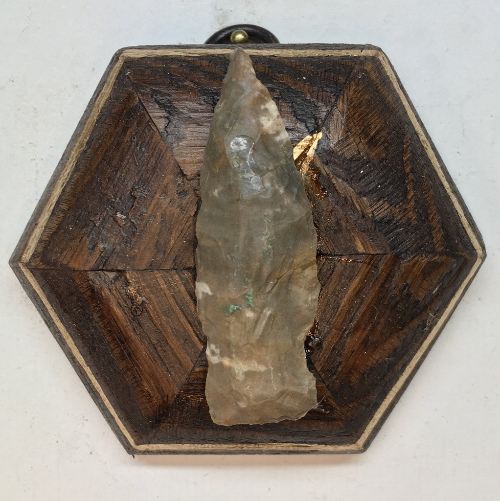 Wooden Frame with Arrowhead (3.25