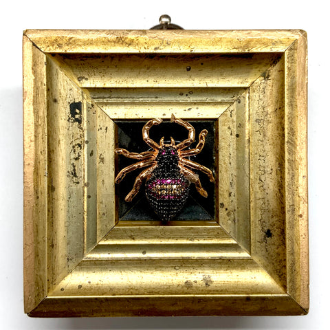 Gilt Frame with Sparkle Spider (2.75