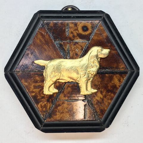 Burled Frame with Spaniel (3.25