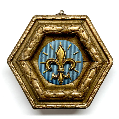 Gilt Frame with Fleur De Lis on Watch Face (2.75