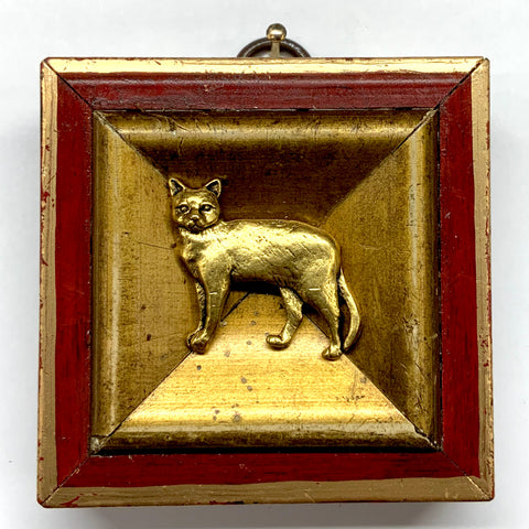 Lacquered Frame with Cat (2.75