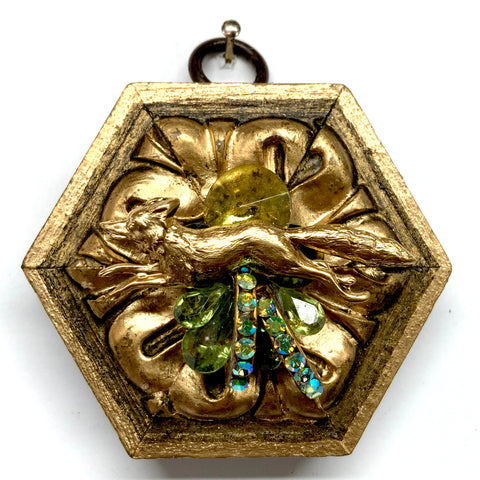 Gilt Frame with Fox on Brooch (2.75