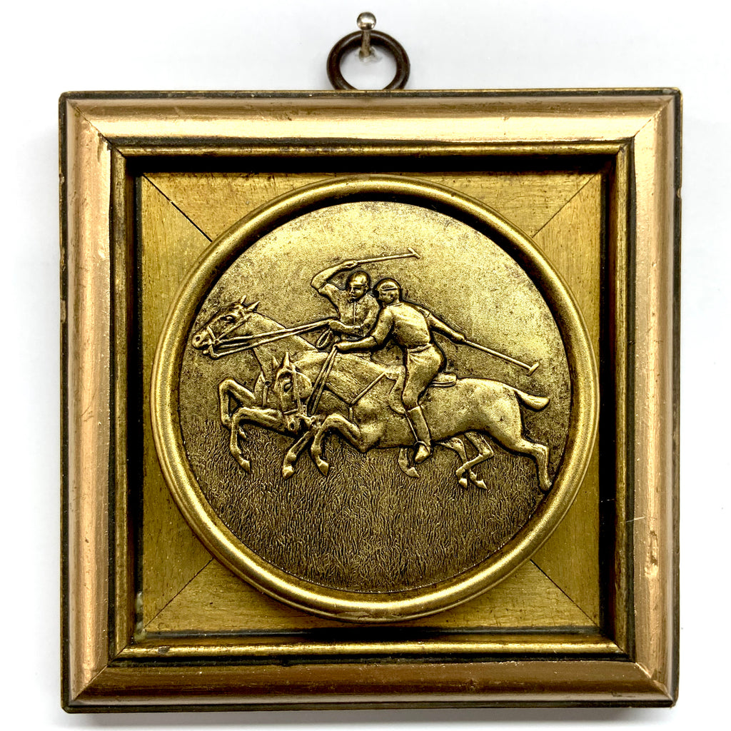 Gilt Frame with Polo Coin (4