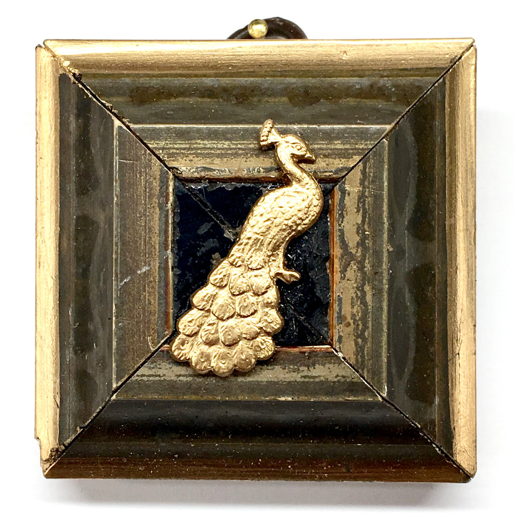 Wooden Frame with Peacock (2.25