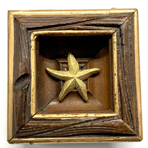 Bourbon Barrel Frame with Anchor (2.5