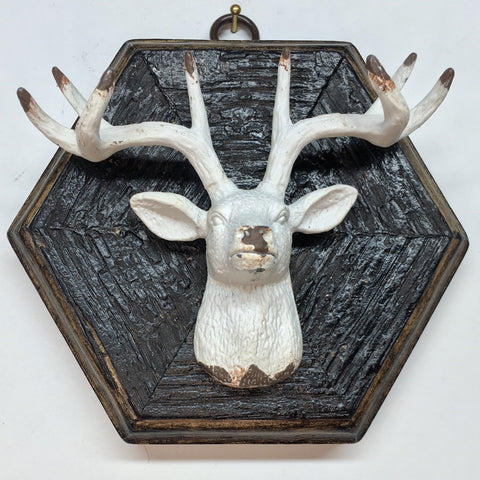 Large Bourbon Barrel Frame with Stag (4.5-5