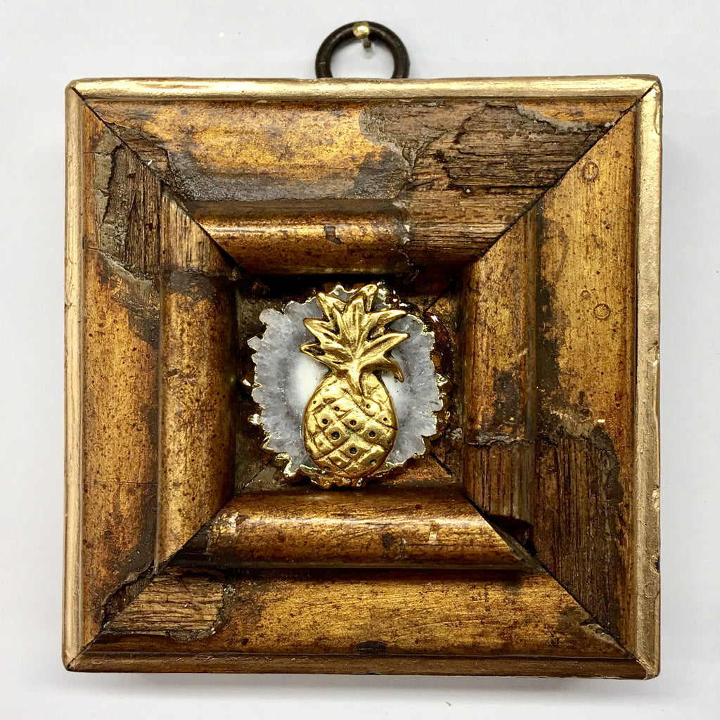 Wooden Frame with Pineapple on Quartz (3.25