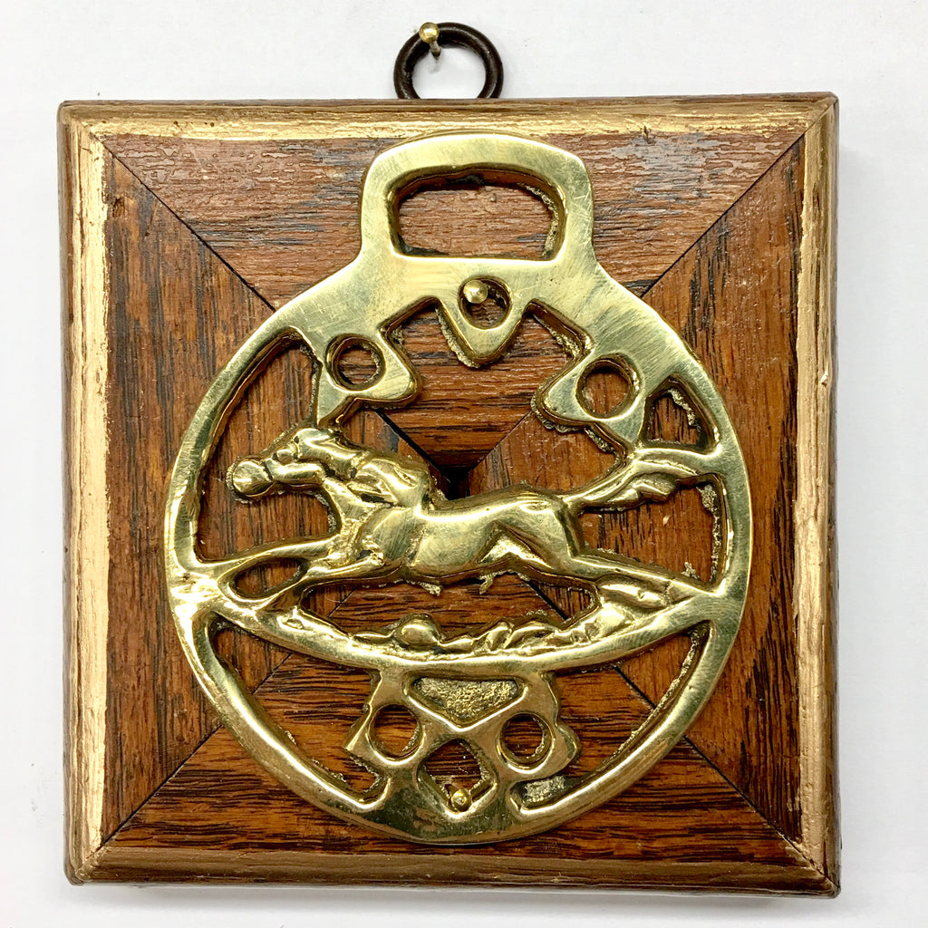Wooden Frame with Horse Brass (3.9