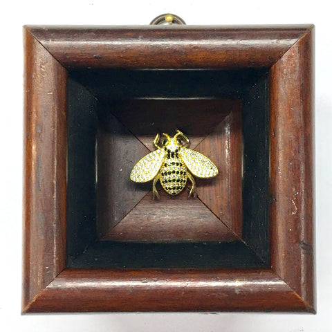 Wooden Frame with Sparkle Bee (3.25