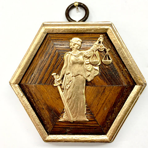 Wooden Frame with Lady Justice (3.25