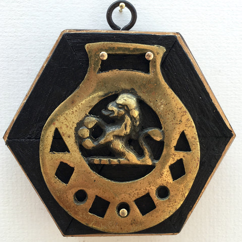 Bourbon Barrel Frame with Lion Horse Brass (4.25