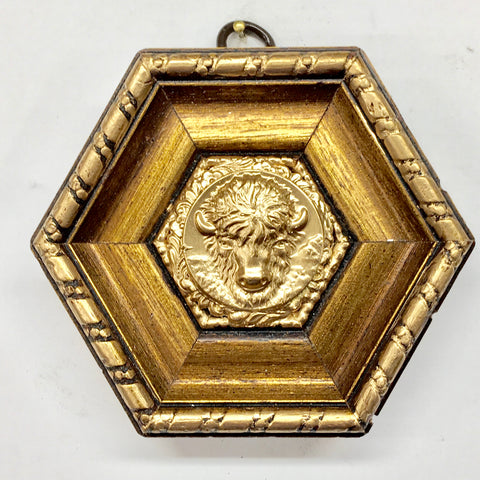 Gilt Frame with Bison Coin (3.6