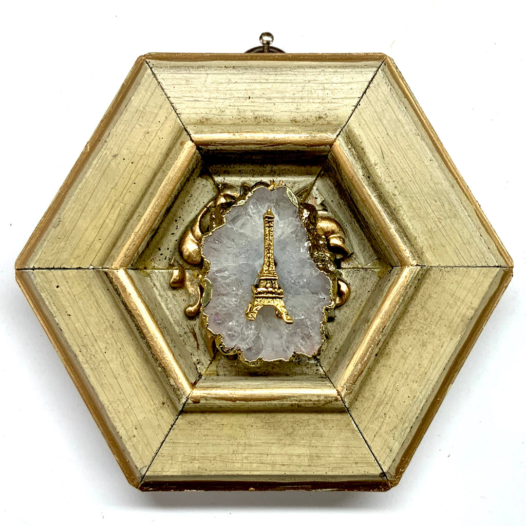 Painted Frame with Eiffel Tower on Quartz (4.25