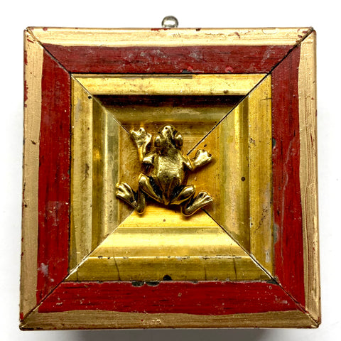 Lacquered Frame with Frog (2