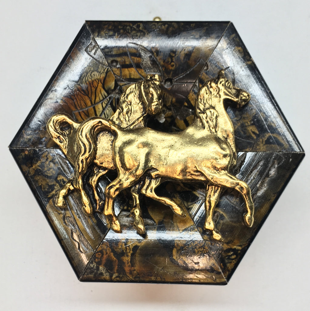 Marbled Frame with Horses (3