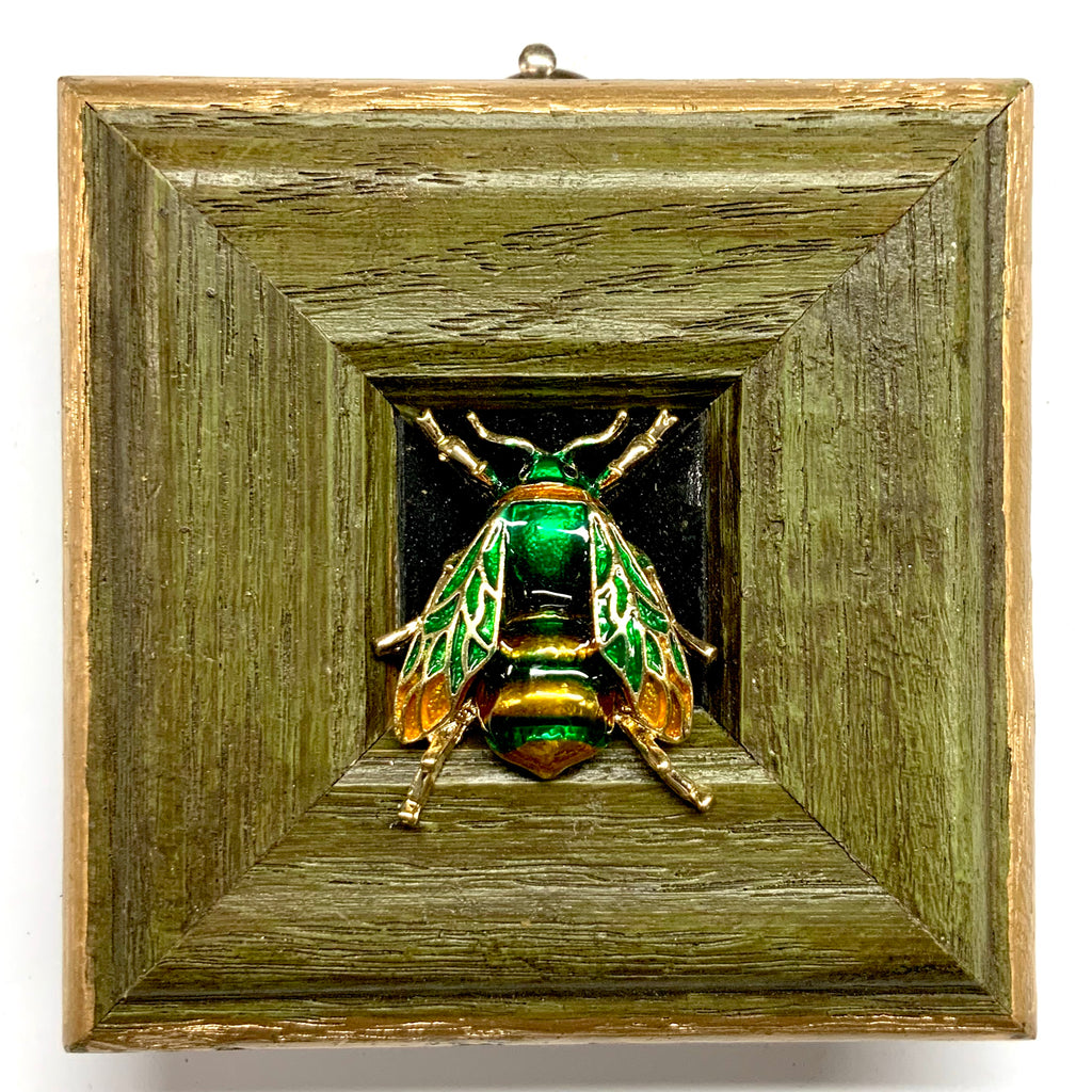 Painted Frame with Enameled Bee (3