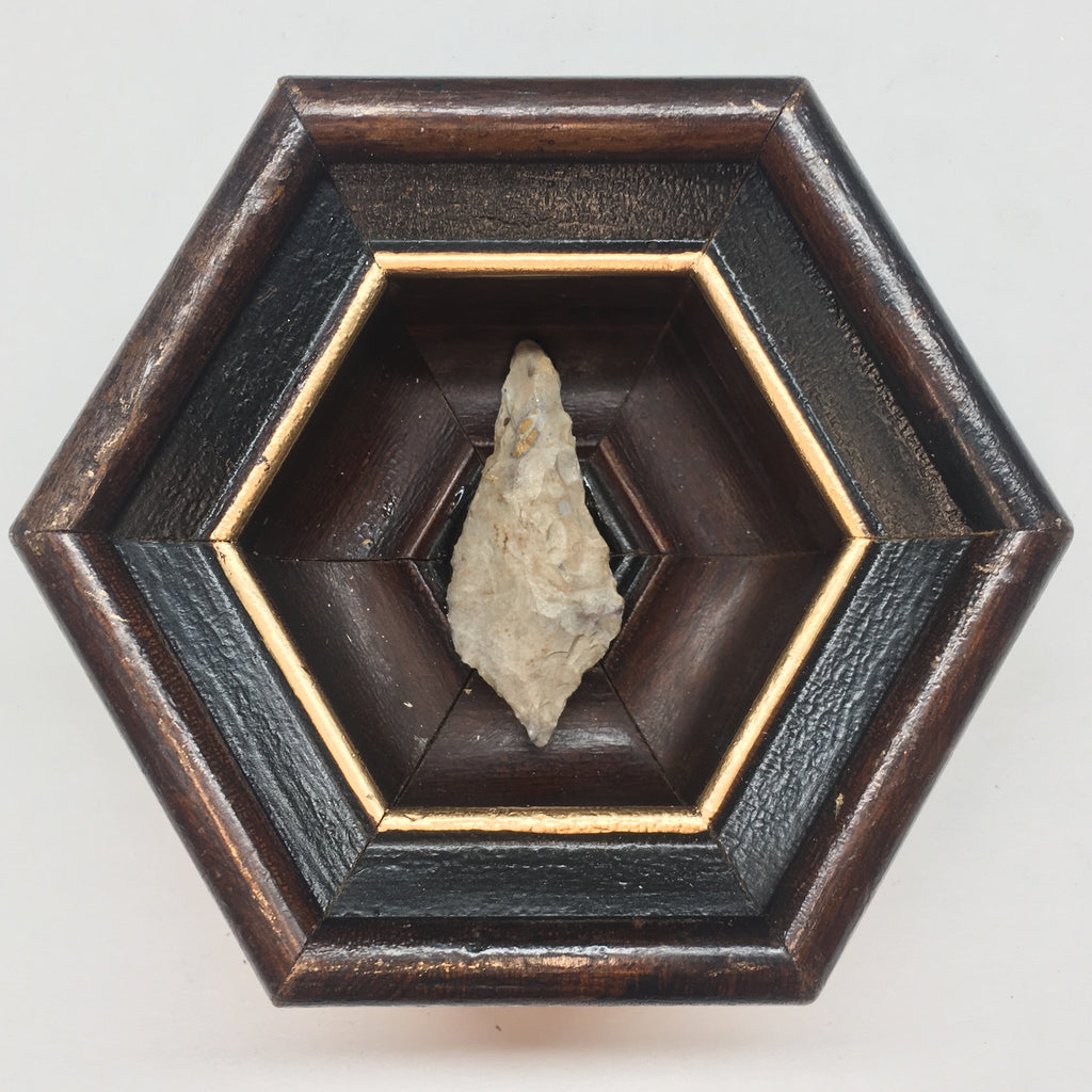 Wooden Frame with Arrowhead (4.5