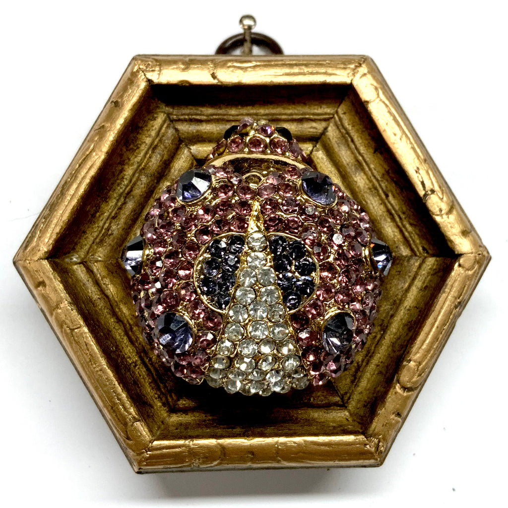 Gilt Frame with Sparkle Ladybug Brooch (3.25