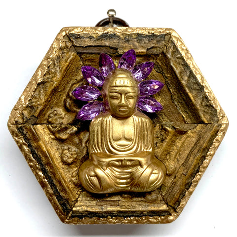 Gilt Frame with Buddha on Brooch (3