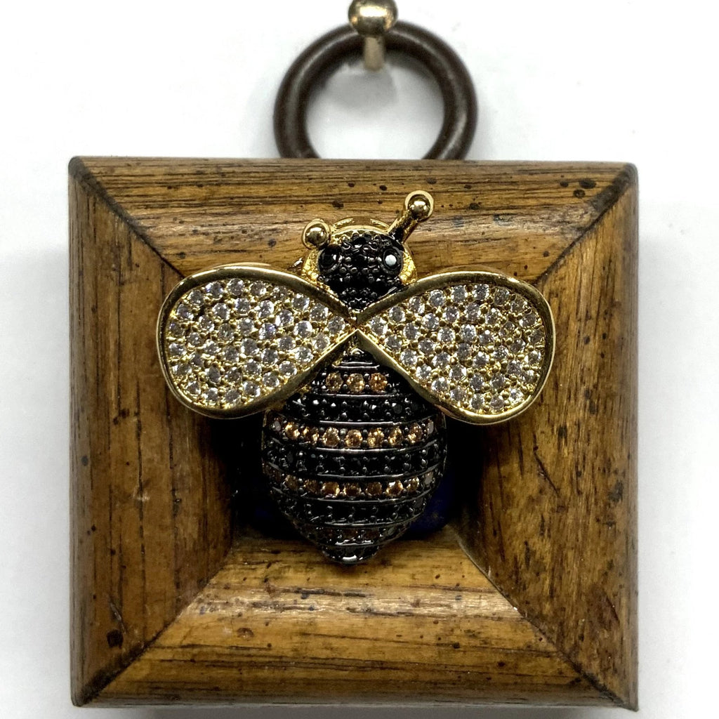 Wooden Frame with Sparkle Bee (1.5