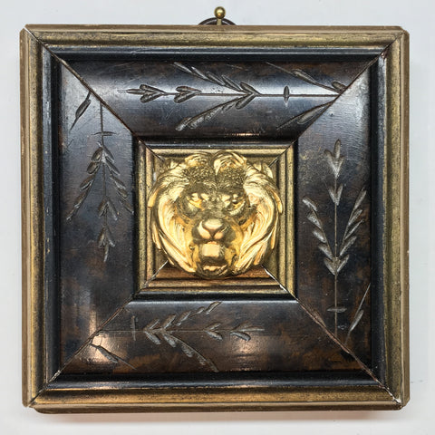 Burled Frame with Lion (4