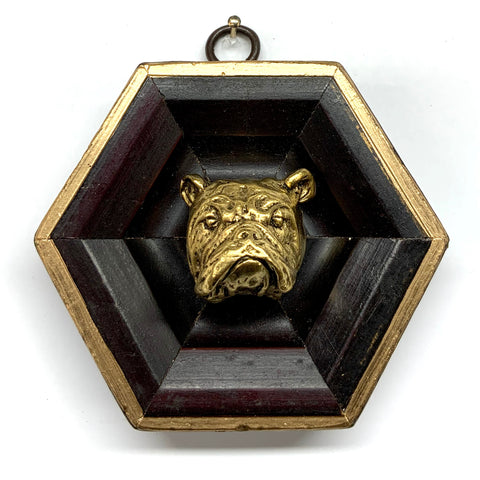Wooden Frame with Bulldog (3.75