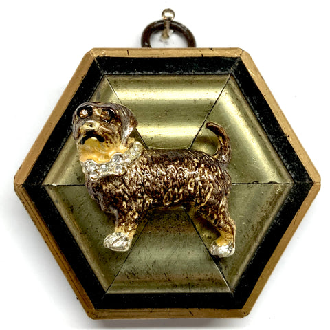 Lacquered Frame with Dog Brooch (3