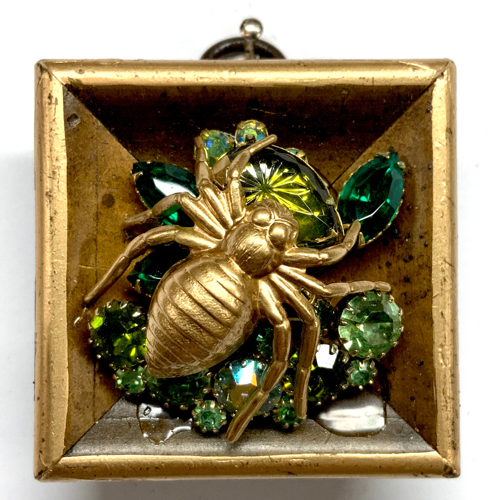 Painted Frame with Spider on Brooch (2