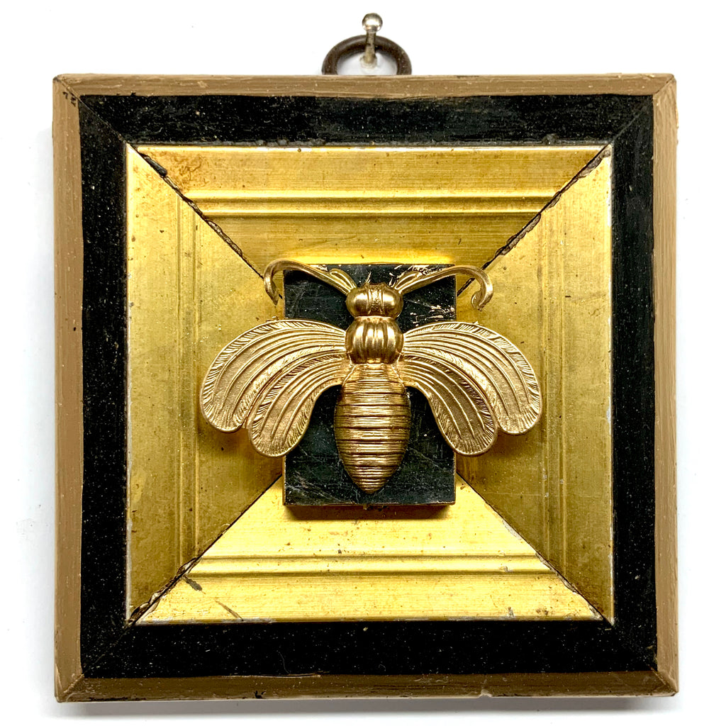 Lacquered Frame with Deco Bee on Stone (4