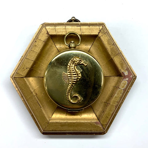 Gilt Frame with Seahorse on Compass (4