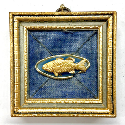 Linen Frame with Fish on Brooch (3.1