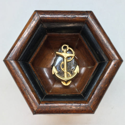 Wooden Frame with Anchor (3.25
