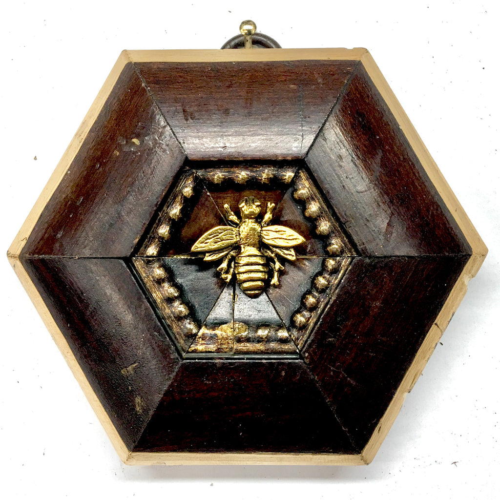 Wooden Frame with Napoleonic Bee (3.6