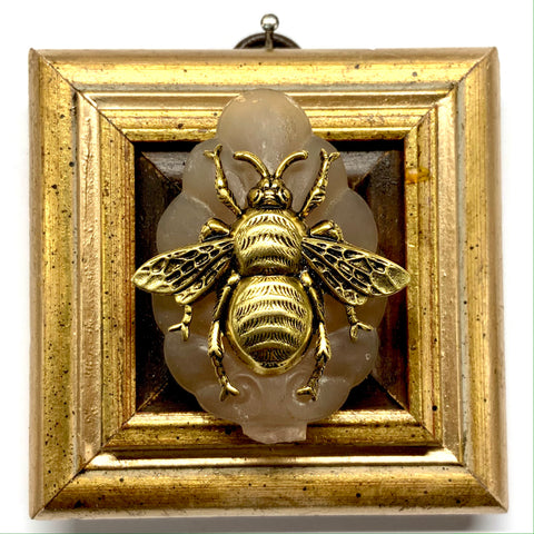 Gilt Frame with Grande Bee on Brooch (3.25