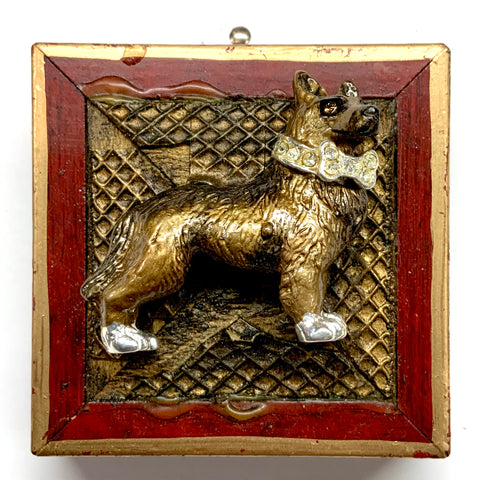 Lacquered Frame with Dog Brooch (2.25