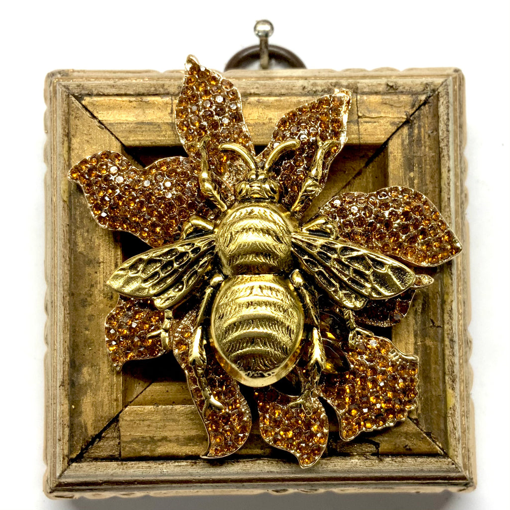 Painted Frame with Grande Bee on Brooch (2.5