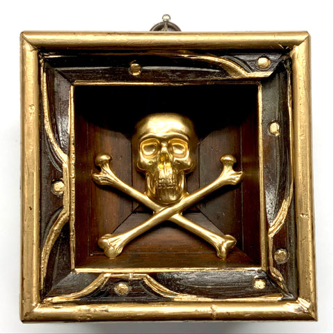 Wooden Frame with Skull and Crossbones (3.5