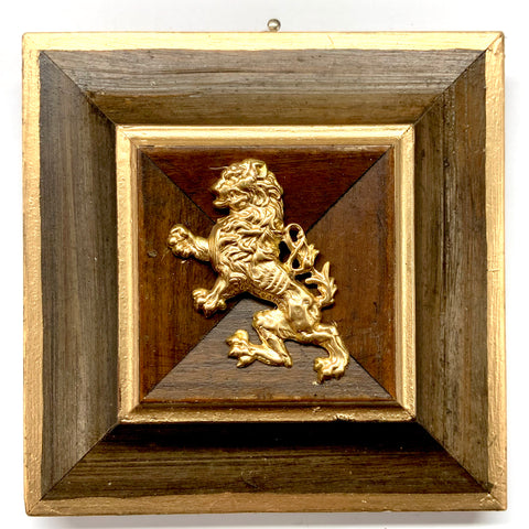 Wooden Frame with English Lion (4.5